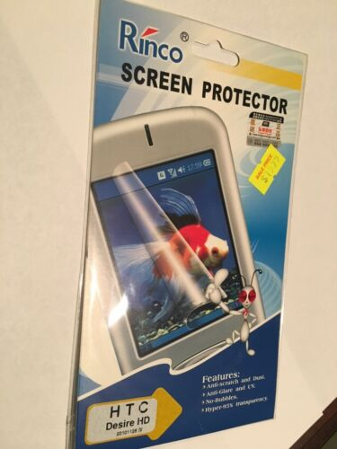 Screen Guard Protector - Clear for HTC Desire HD SCG5396 Brand New Sealed packet