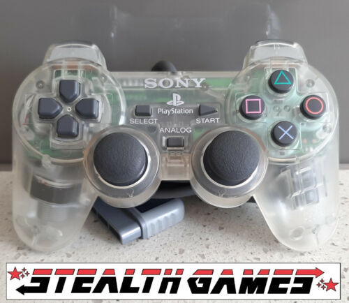 PS1 Analog Controller Transparent Clear (SCPH-1200) Official Sony Playstation 1