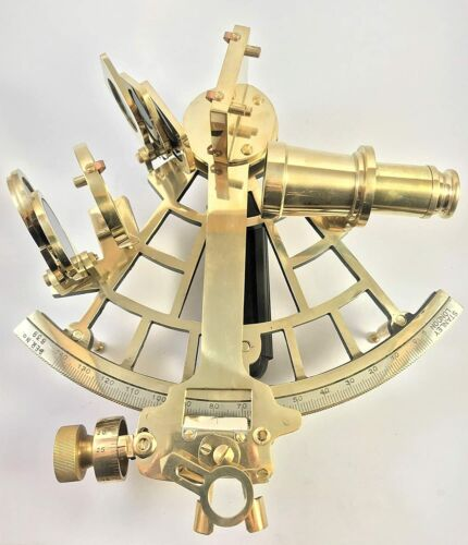 """FatherDay Nautical Solid Brass 5""""Sextant FatherDay Ship Navigational Instr"""