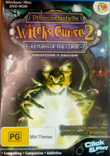 Princess Isabella Witch's Curse 2 (PC DVD-Rom) Hidden Object Adventure Game