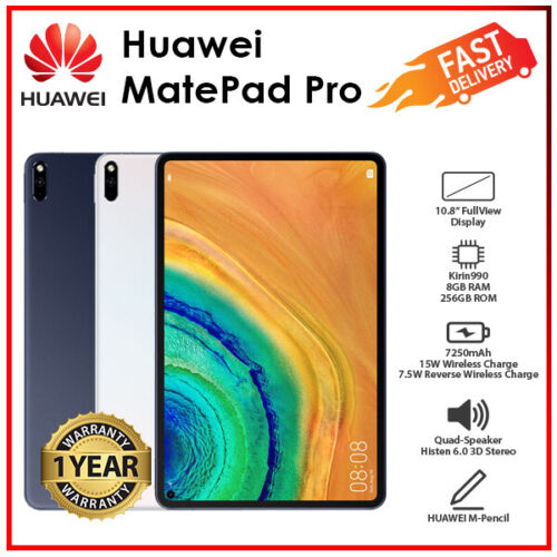 """Huawei Matepad Pro 10.8"""" White Grey 8GB+256GB 8 Core WiFi Android PC Tablet(NEW)"""