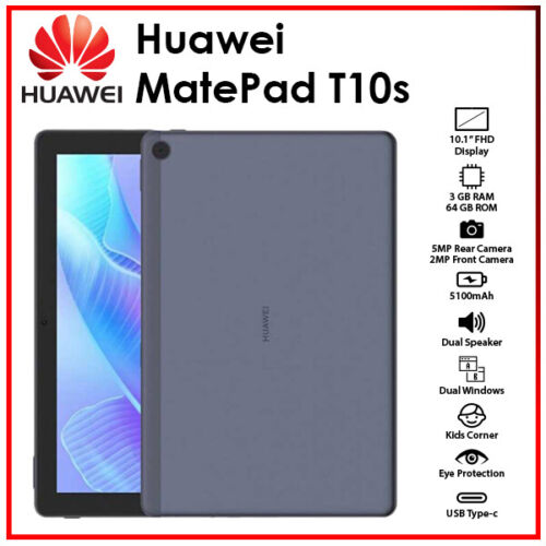 """Huawei MatePad T 10s 10.1"""" Blue 3GB+64GB Octa Core Android PC Tablet (WiFi&New)"""