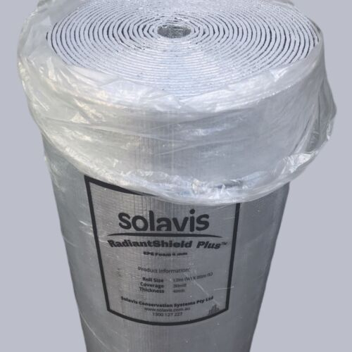 EPE reflective foil heat barrier air roof wall floor attic loft insulation cell <br/> SOLAVIS RadiandShield Plus   FOIL FOAM INSULATION