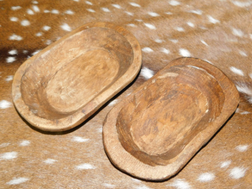 Lot of 50 Carved Wooden Dough Bowl Primitive Wood Trencher Home Decor 8-10""