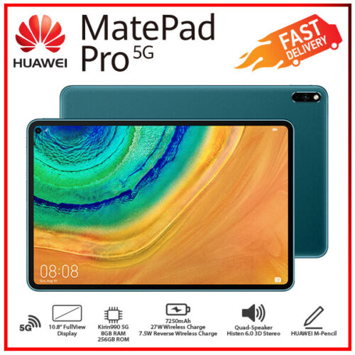 (WiFi+5G) New Huawei MatePad Pro 5G Green 8GB+256GB Octa Core Android PC Tablet