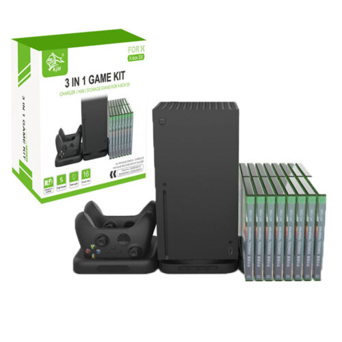 3-In-1 Vertical Stand Game Station Dock Charger Holder For Xbox Series X