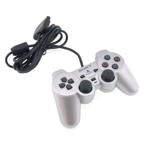 PlayStation 2 PS2 DualShock 2 Silver Wired Controller USED