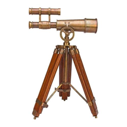 Marine Brass Telescope with Tripod Stand Table Top / Desk Top Decor Gift Item