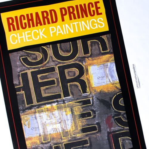 RICHARD PRINCE CHECK PAINTINGS EXHIBITION POSTER 2005 VERY RARE