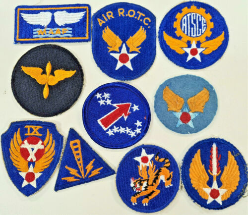 RARE VINTAGE WW2 ISSUE US ARMY AIR FORCE UNIFORM UNIT SLEEVE PATCH BADGE1939 - 1945 (WWII) - 13977