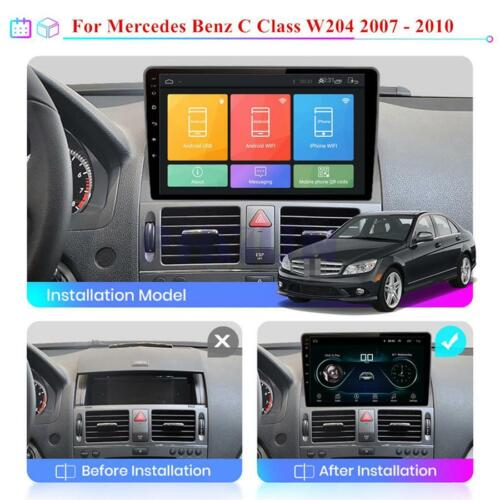 For Mercedes Benz C Class W204 Car GPS Navigation Stereo Radio WIFI Player 2+32G