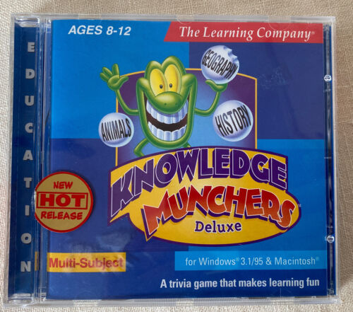 1998 The Learning Company: Knowledge Munchers Deluxe PC CD-Rom: Ages 8 to 12 GVC