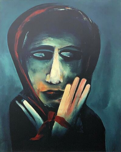 """CHARLES BLACKMAN """"The Red Scarf"""" LARGE Signed Limited Edition Print 100cm x 80cm"""