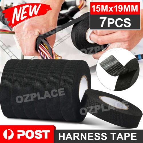 7x Wire Loom Harness Tape Wiring Harness Cloth Tape Adhesive Electrical Tape AU