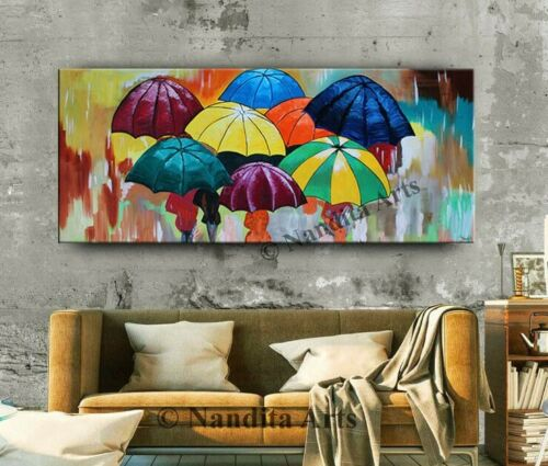 Acrylic Painting Girl with Umbrella Girls Inspired Artwork Woman with Umbrella