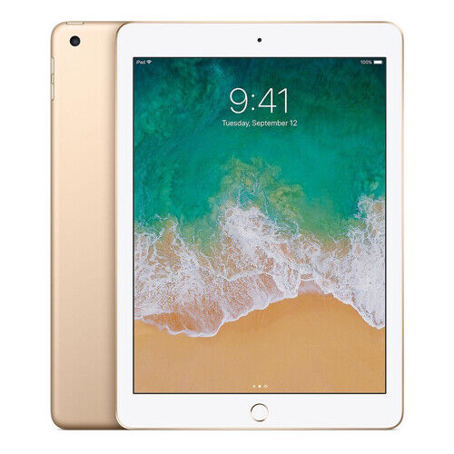Apple iPad 5th Generation Gold Tablet - 128GB Storage Wi-Fi Only 6 Mth Wty