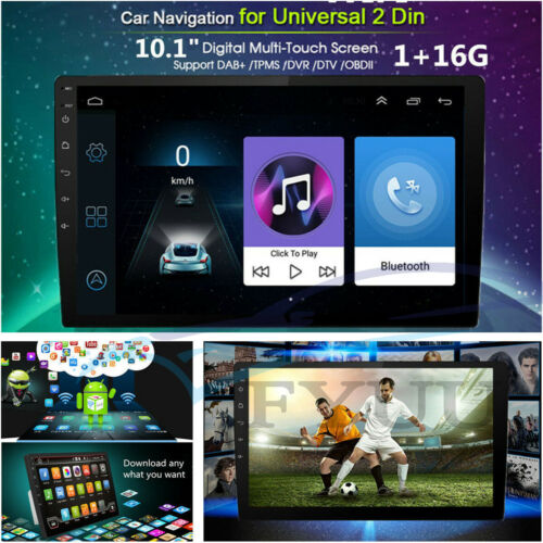 """10.1"""" 2DIN Touch Android 7.1 Car GPS Navi Stereo Radio MP5 Player FM Mirror Link"""