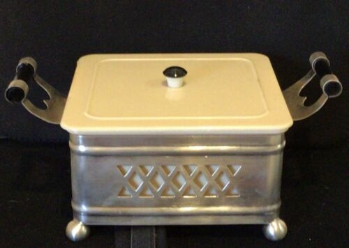 Vintage  silver plated ALBION box with Xylonite insert Marquis Australia