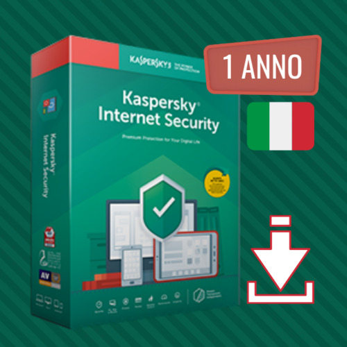Kaspersky Internet Security 2021 - Licenza ESD da 1 a 5 Dispositivi - 1 Anno ITA