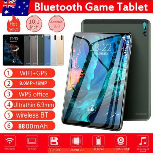 """10.1"""" 8G+128G WiFi Tablet Android 9.0 Netflix HD Bluetooth Game Tablet 3 Camera"""