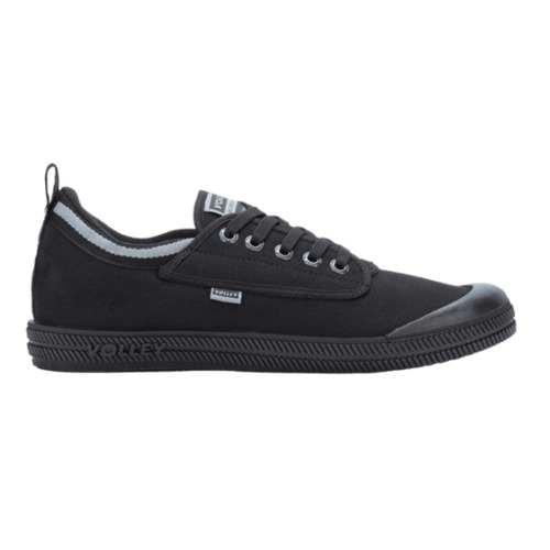 DUNLOP VOLLEYS International Volley Low Canvas Black Mens Shoes