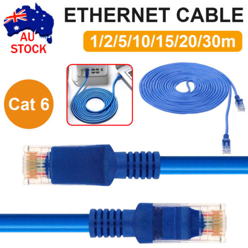 CAT6 Ethernet Network Cable Lan  1m 2m 3m 5m 10m 15m 20m 30m NBN router XBOX PS4