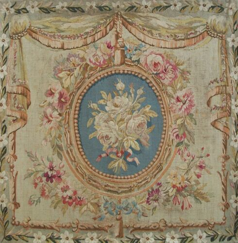 PIERRE ADRIEN CHABAL - Louis XVI Style Beauvais Tapestry Panel - France - C.1855