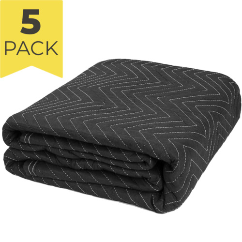 5x BLACK HEAVY DUTY 180x340cm QUILTED MOVING BLANKETS FURNITURE REMOVALIST PADS <br/> Local Seller - Fast Shipping & Delivery - GST Invoice