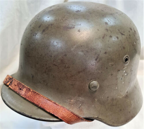 Q64 VINTAGE WW2 GERMAN ARMY NAVY OR AIR FORCE M1935 UNIFORM HELMET CHIN STRAP1939 - 1945 (WWII) - 13977