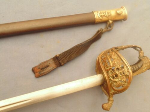 MARINE OFFICER SWORD SABER Ml 1837 WITH IRON SCABARD NAPOLEON III  AND LATEROriginal Period Items - 4070