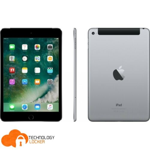 "Apple A1550 iPad mini 4 128GB Wi-Fi + Cellular 7.9"" New Charger Earbud Unlocked"
