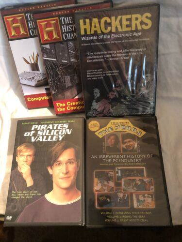 Vintage COMPUTER HISTORY dvds. Five in one lot !