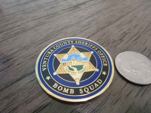 Ventura County Sheriffs Office California Bomb Squad Challenge Coin #600HChallenge Coins - 74710