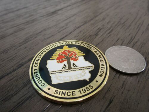 County Conservation Peace Officers Association CCPOA Iowa Challenge Coin #608H Challenge Coins - 74710