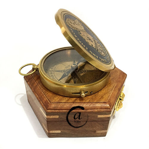 Medieval Reproduction Magnetic Needle Compass Hiking Camping/ Gift For Military