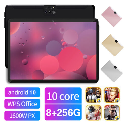 """10.1"""" 4G 8+256GB Network Tablet PC Android 10.0 G-Sensor with 2.5D Four Cameras"""