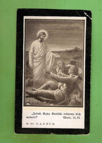 #D411. #5.  GERMAN   IMPERIAL  MILITARY  PERIOD  RELIGIOUS   CARD, 63mm by 103mm1914 - 1918 (WWI) - 13962