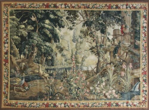 """Tapestry, French Design Very fine, Reprotection. 6'8"""" x 9'3"""".c-1990's, #17210"""