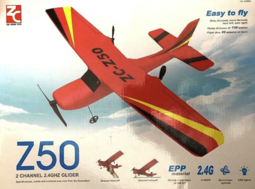 Remote Control Airplane Glider 2.4G 2 Chnl Plane Easy 2 Fly Chargeable BLUE ONLY
