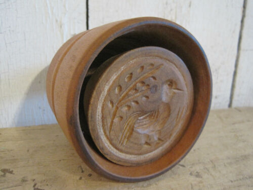 Old Primitive Wonderful Wood Bird Butter  Mold Print American Country Find AAFA