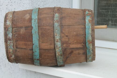Antique Authentic Old Wooden Pot Jar For Water/Wine/Whiskey Keg Barrel  19C