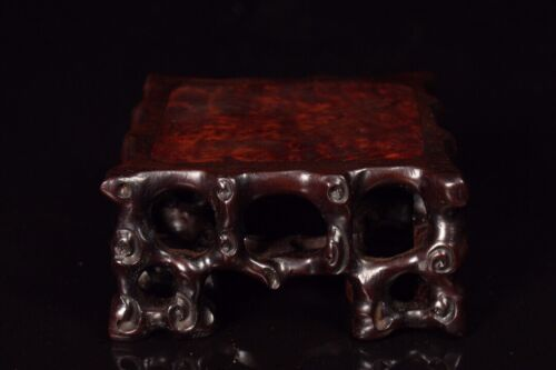 Collect noble Decor Natural Ebony wood Hollow square stand display pedestal