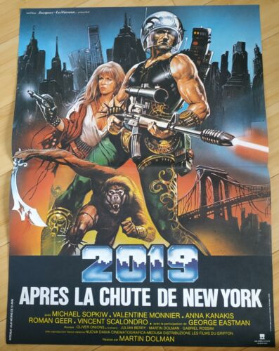 AFFICHE CINEMA ORIGINALE 40/60 2019 après la chute de New York , tbe