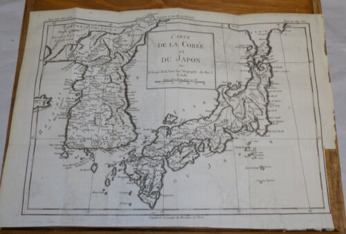1783 DETAILED TOPOGRAPHICAL MAP OF JAPAN & KOREA, Plus Area-Related Text