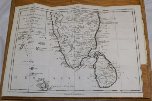 1783 DETAILED TOPOGRAPHICAL MAP OF INDIA,CEYLON,MALDIVES/+Area-Related Text