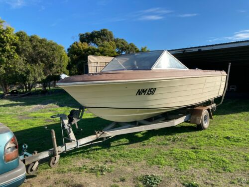 Boat and Trailer - Monark 5m <br/> Starting price is $500.00, Bidders can decide value