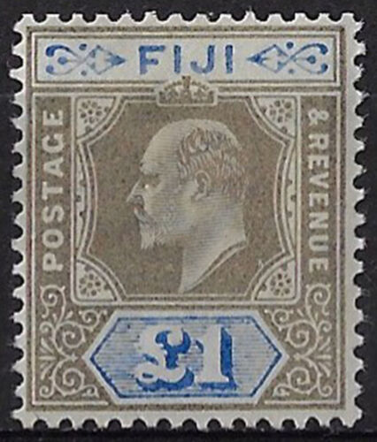 1903 Fiji 1£ MNH grey-black and ultramarine SG n. 114
