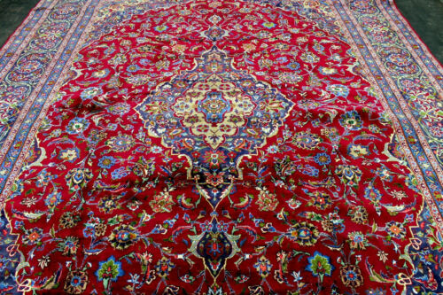 10X13 MASTERPIECE MINT 200+KPSI HAND KNOTTED VEGGY DYED KASHMARR ORIENTAL RUG