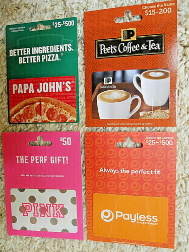 Collectible Gift Cards, with backing, no value on cards, new and unused   (IF)