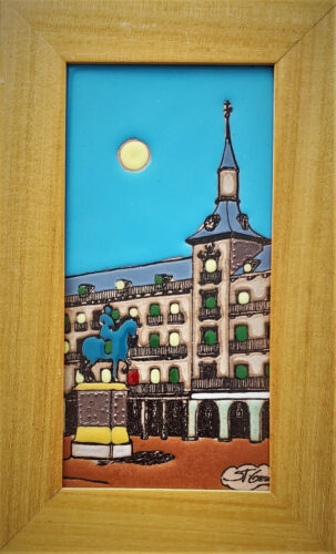 Saint George Grenada Ceramic Wall Art Tile Framed Beautiful with Bright Colors